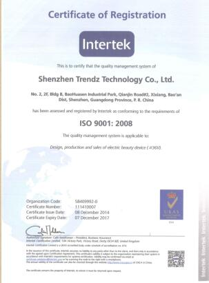 INTERTEK ISO9001:2008